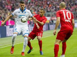 Bayern y Hoffenheim llegaban al partido como equipos invictos y lo siguen siendo. (Foto: Getty)