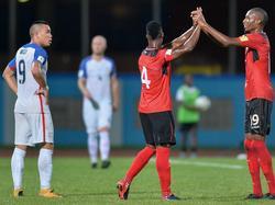 Trinidad y Tobago celebra el  triunfo contra Estados Unidos. (Foto: Imago)