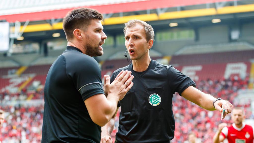 Florian Dick (l.) vom 1. FC Kaiserslautern wurde gesperrt