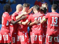 Der GAK jubelt über einen Heimsieg gegen Innsbruck
