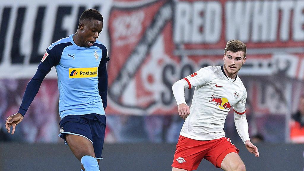 Denis Zakaria von Gladbach und RB Leipzigs Timo Werner stehen beim FC Liverpool auf dem Zettel