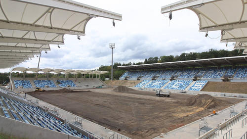 Der FCS darf im noch nicht ganz fertiggestellten Ludwigspark spielen