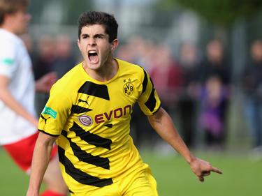 ...über seinen Treffer gegen Leipzig im Halbfinale der B-Junioren-Bundesliga. (03.06.2015)