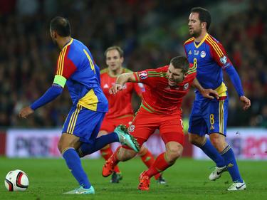 Andorra, en un partido valedero para la Eurocopa de Francia frente a Gales. (Foto: Getty)