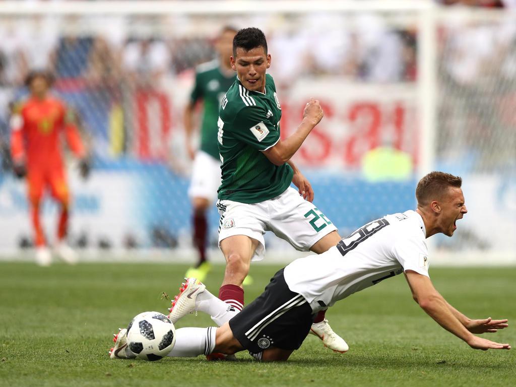 Hirving Lozano ist Spieler des Spiels von Deutschlands Pleite gegen Mexiko