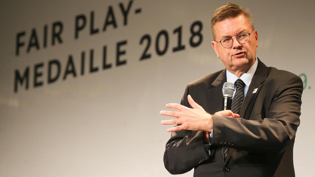 DFB-Präsident Reinhard Grindel hat mit FIFA-Boss Gianni Infantino gestritten