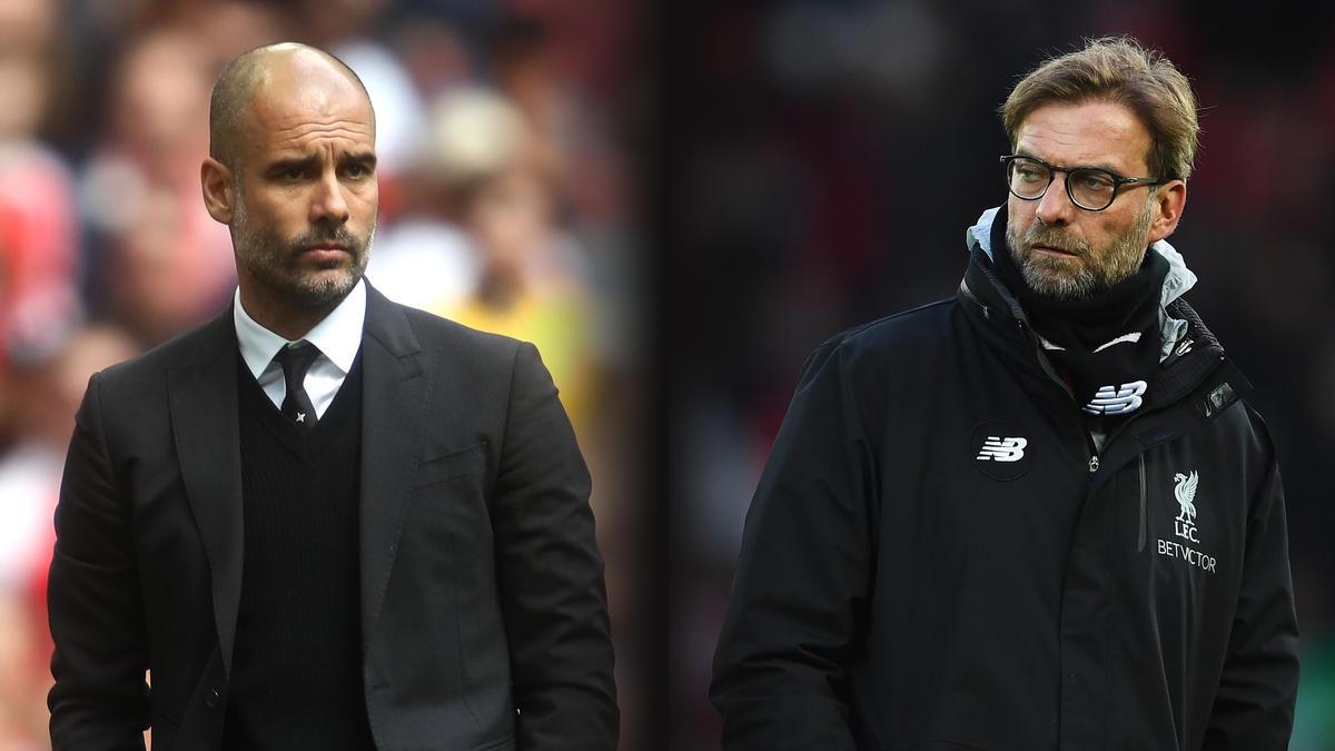 Pep Guardiola und Jürgen Klopp treffen am Sonntag aufeinander