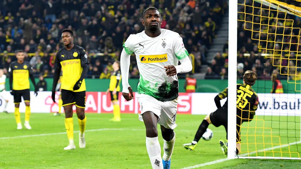 Traf im DFB-Pokal gegen den BVB: Marcus Thuram