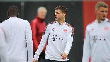 Lucas Hernández nahm am Abschlusstraining des FC Bayern teil