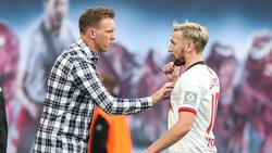 Emil Forsberg (r.) kommt unter Julian Nagelsmann nicht immer zum Einsatz
