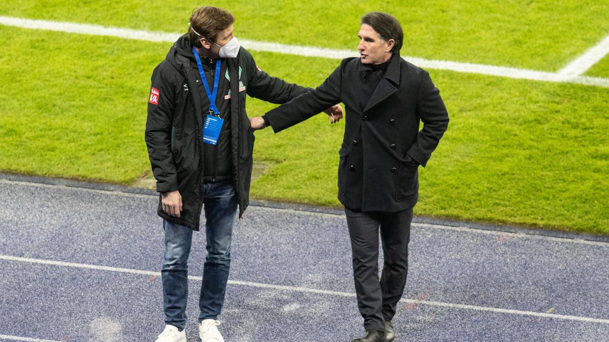 Florian Kohfeldt (l.) und Bruno Labbadia
