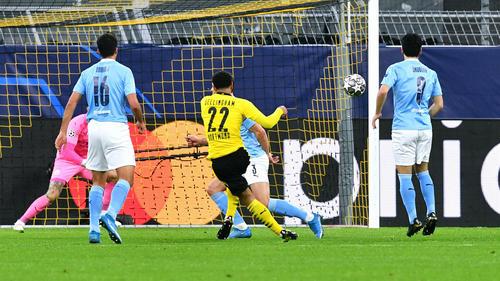 Jude Bellingham erzielte ein traumhaftes Tor für den BVB in der Champions League