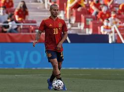 Thiago Alcántara en el último amistoso ante Portugal.