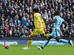 Atdhe Nuhiu bei seinem Tor gegen Manchester City
