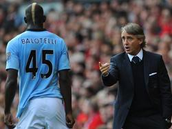 Mancini tuvo a Balotelli a sus órdenes en el Manchester City. (Foto: Getty)