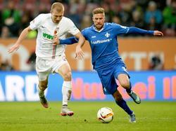 Mit unbekanntem Ziel verlässt Tobias Kempe (r.) den SV Darmstadt 98