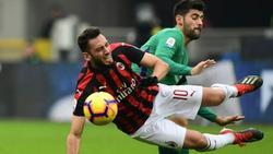 Calhanoglu und Co. mit Nullnummer bei Frosinone Calcio