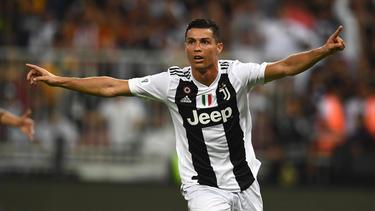 Cristiano Ronaldo feierte den ersten Titel mit Juventus Turin