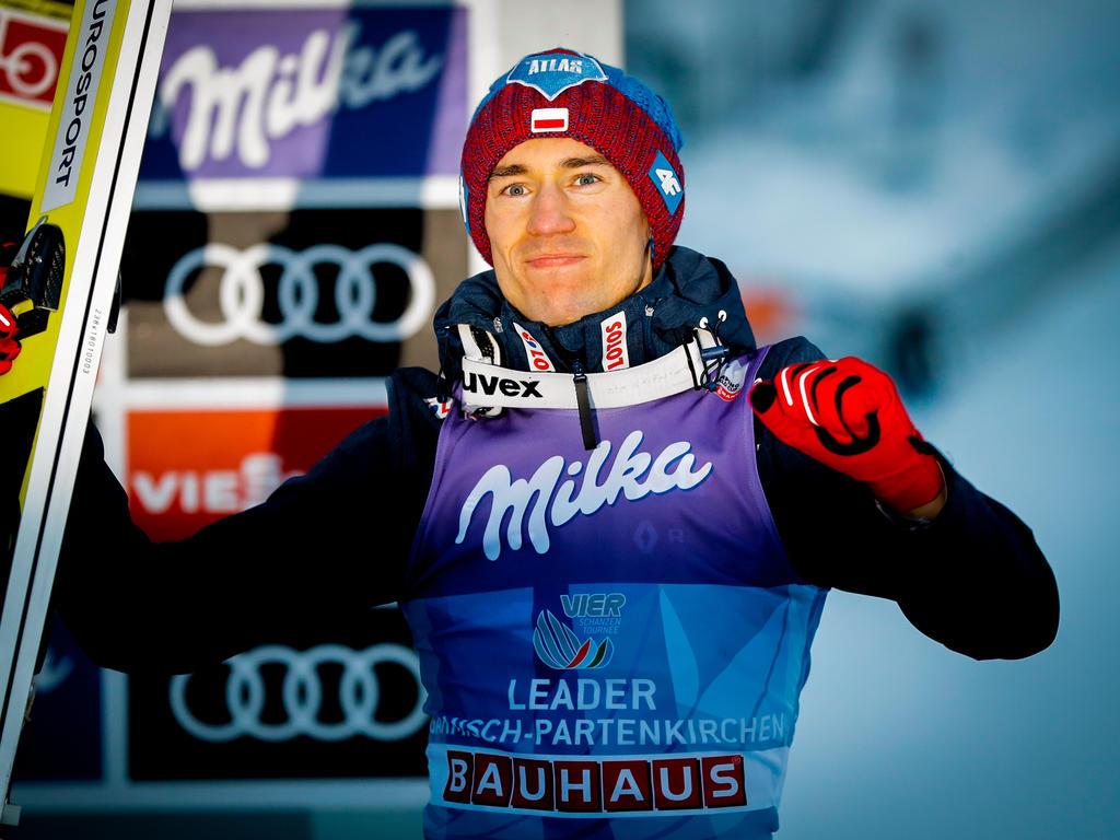 Kamil Stoch liegt in der Gesamtwertung der Tournee zur Halbzeit vorn