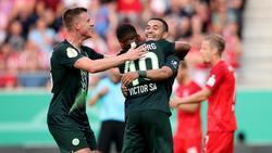 Der VfL Wolfsburg mühte sich zu einem Sieg gegen den Halleschen FC
