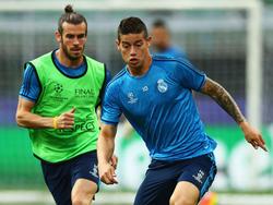 Bale y James en una imagen de archivo.