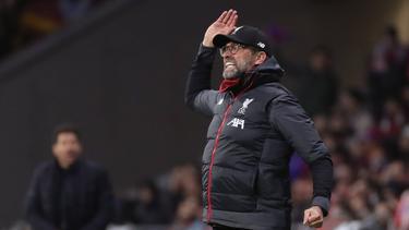 Kassierte mit dem FC Liverpool einen Niederlage bei Atlético: Jürgen Klopp