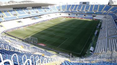 Estadio La Rosaleda en Málaga, capital de la Costa del Sol.