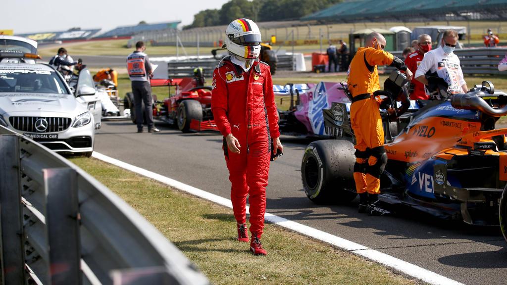 Ferrari-Pilot Sebastian Vettel fuhr in Silverstone nur auf den zwölften Platz