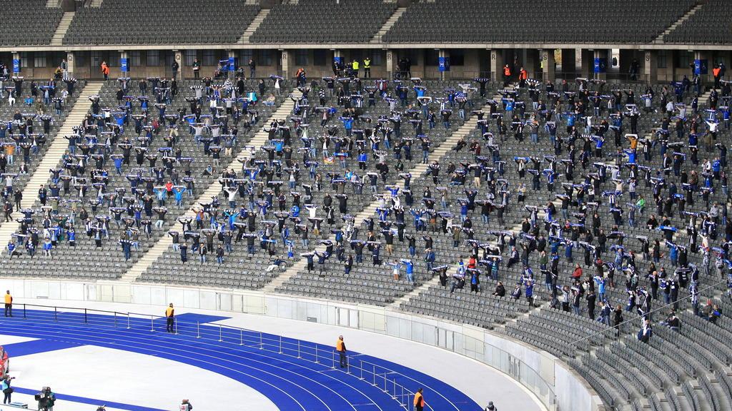 Beim Hertha-Heimspiel sind keine Zuschauer zugelassen