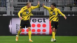 Erling Haaland (l.) und Giovanni Reyna (r.) gelten beim BVB als Hoffnungsträger