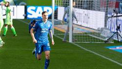 Christoph Baumgartner traf für die TSG Hoffenheim gegen Wolfsburg