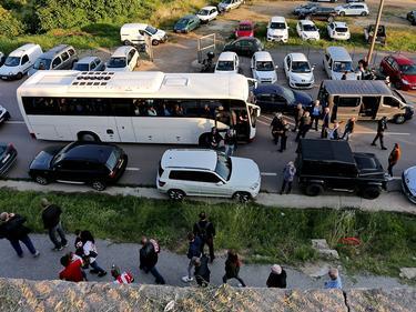 Der Teambus von Le Havre ist von den Heim-Fans attackiert worden