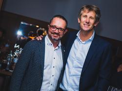 Raphael Landthaler mit Edwin van Sar beim ECA-Treffen
