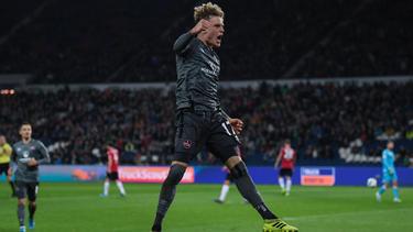 Nürnbergs Robin Hack erzielte beide Treffer gegen Dynamo Dresden