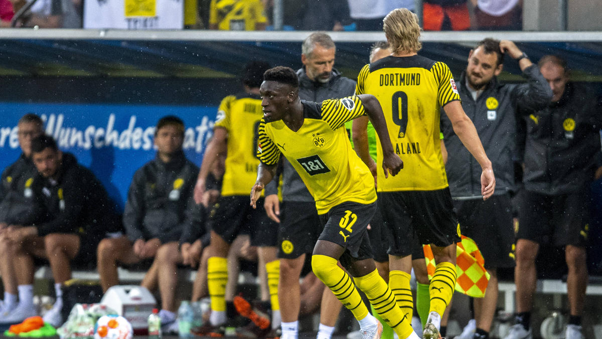 Abdoulaye Kamara lief bei einem Testspiel bereits für die BVB-Profis auf
