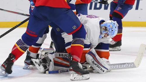 Musste mit den New York Islanders eine Niederlage hinnehmen:Goalie Thomas Greiss
