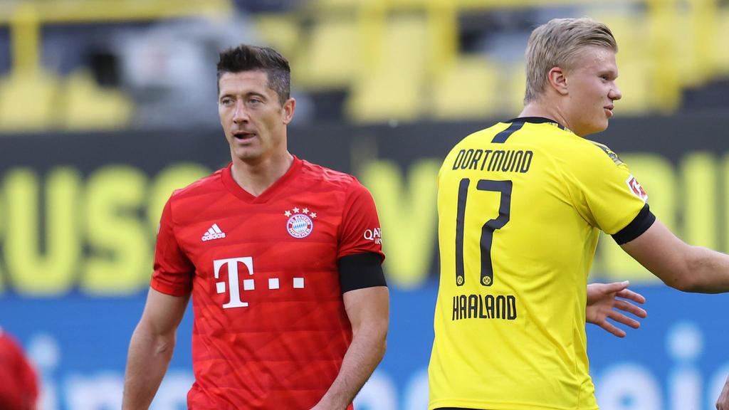 Um Robert Lewandowski vom FC Bayern und Erling Haaland vom BVB ranken sich Gerüchte