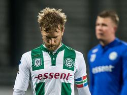 Rasmus Lindgren baalt na afloop van het competitieduel Excelsior - FC Groningen (12-03-2016).