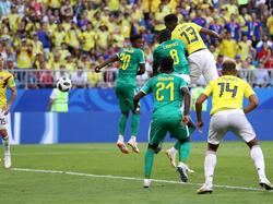 Yerry Mina ya lleva dos goles de cabeza en el Mundial de Rusia. (Foto: Getty)