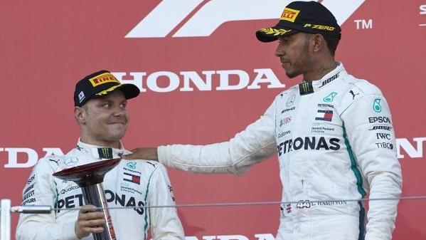 Bottas hat in Suzuka Hamiltons Rücken freigehalten