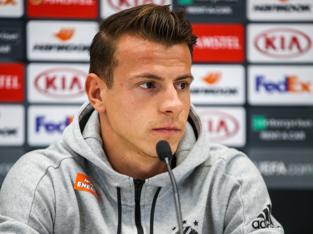 Rapid-Kapitän Stefan Schwab freut sich auf die Begegnung mit Inter Mailand