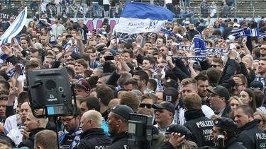 Einige KSC-Fans wurden vor Derby sanktioniert