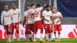 Angelino (r.) besorgte beide Leipziger Treffer