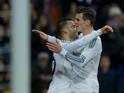 Gareth Bale beglückwünscht Jesé zu seinem Treffer