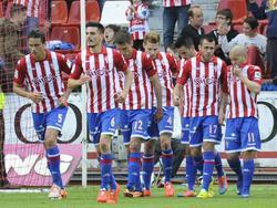 Gijón bejubelt den 2:0-Erfolg über Lugo