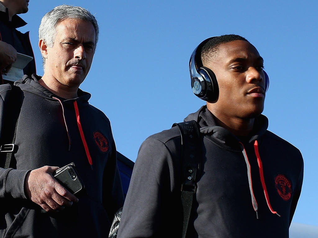 José Mourinho and Anthony Martial