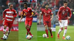 Kamen im Winter zum FC Bayern: Landon Donovan, Luiz Gustavo, Serdar Tasci und Sandro Wagner