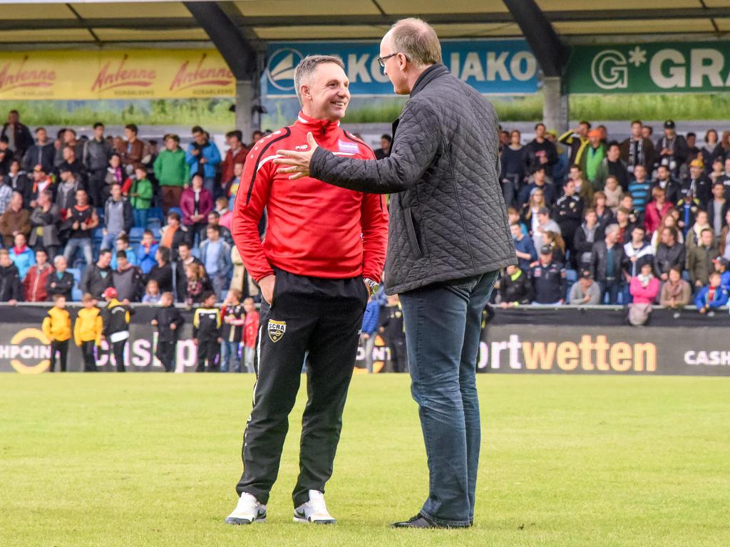 Meldet sich Rapid für Verhandlungen mit Erfolgscoach Damir Canadi bei Altach-Sportchef Georg Zellhofer?