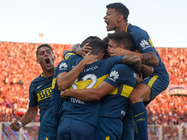 Boca Juniors celebra un gol frente a San Lorenzo. (Foto: Getty)