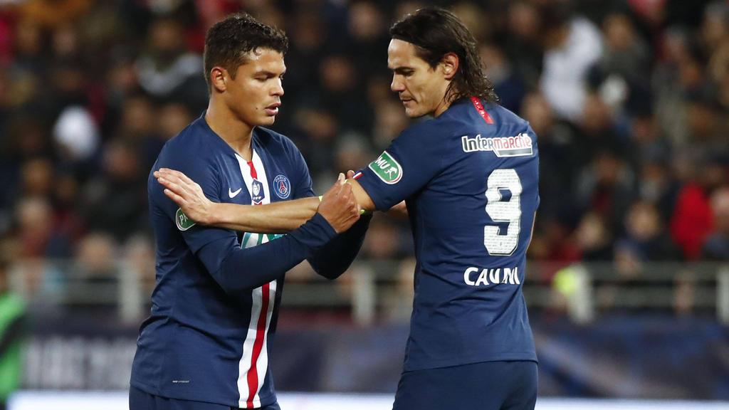 Cavani (r.) und Silva (verlassen Paris im Sommer